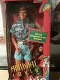 Animal Lovin Ken by Mattell. $59.99. Feature exciting safari fashions and comes with a pet. Great to add to your collection or for fun play!. Appeared in the Disney Pixar film Toy Story 3. Animal Lovin Ken Doll Manufactured by Mattel 1988 #1350. The doll is  vintage and is in brand new and in Mint condition and it has never been remove from box.