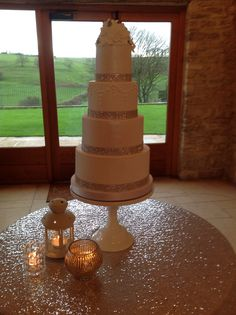 We Love this Sparkly Sequin Cake @ Thekingscotebarn