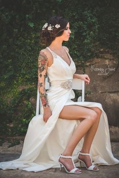 bridal photos, bridal photographer, san antonio photographer, brides with tattoos, Rooney June Productions