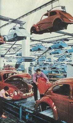 """Volkswagen Beetles built in Turkey kelebek-misali: """" bu da fabrikası (Batı Almanya - 1959) """""""