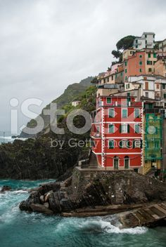 The colorful houses of Riomaggiore royalty-free stock photo