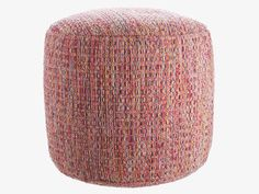 LOWE MULTI-COLOURED Fabric Multi-coloured round pouf - HabitatUK