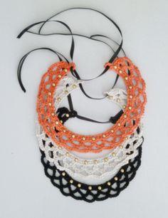 Crochet Collar by Hilaria Fina  #Collar   #Handmade #Crochet https://www.facebook.com/hilaria.fina