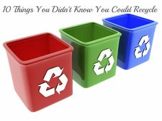 10 Things You Didn't Know You Could Recycle | The Guavalicious Life