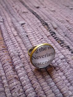 Peter Pan Ring- Neverland Book Page Jewelry, StoryBookWhimsies on Etsy