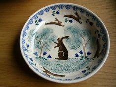 Bell Pottery Leaping Hare dish