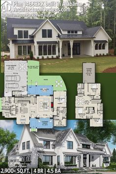 Architectural Designs House Plan 14662RK client-built in Alabama by our friends at Holland Homes LLC! | 4 BR | 4.5 BA | 2,900+ sq. ft.| Ready when you are. Where do YOU want to build? #14662RK #adhouseplans #architecturaldesigns #houseplan #architecture #newhome #newconstruction #newhouse #homedesign #dreamhome #dreamhouse #homeplan #architecture #architect #housegoals #modernfarmhouse #farmhouse #farmhouseliving #traditional #clientbuilt #client #alabamahomes @hollandhomesllc