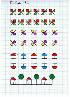 Calligraphy: Reinforcement Material - Web del maestro Graph Paper Drawings, Graph Paper Art, Easy Drawings, Blackwork, Symmetry Worksheets, Zentangle, School Frame, Lettering Tutorial, Letter Art