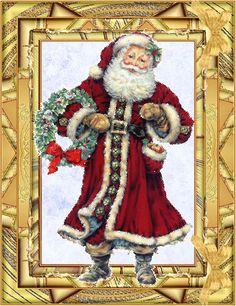открытка на новый год с дедом морозом