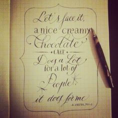 Chocolate #calligraphy