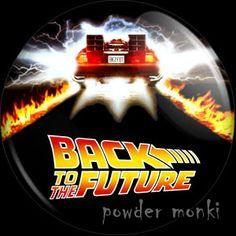 Retro Movie Badge/Magnet - Back To The Future ~ www.powdermonki.co.uk ~ £0.99