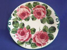 Wemyss Ware 'Cabbage Roses' Cake Plate c1918