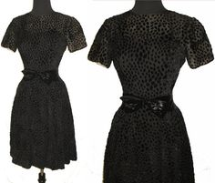 1950s Dress Black Illusion  Couture New Look by vintagediva60, $95.00