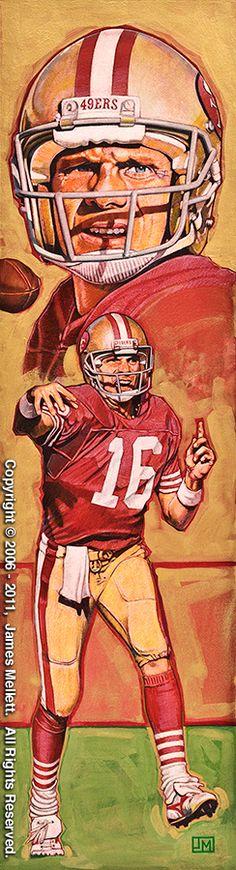 Joe Montana, S.F. 49ers by James Mellett