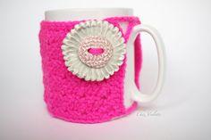 Cozy Mug Coffee Mug Warmer Neon Pink color Mint by chezviolette