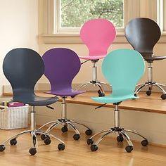 Desks Computer Desks Teen Desks Small Desks u0026 White Desks | PBteen & Ivory Sherpa Faux-Fur Wingback Desk Chair | PBdorm Dream Room ...