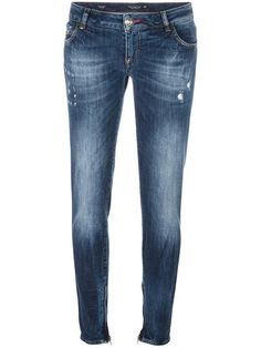 PHILIPP PLEIN distressed skinny jeans. #philippplein #cloth #jeans