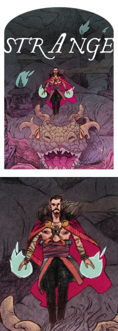 Dr. Strange by Jake Wyatt.