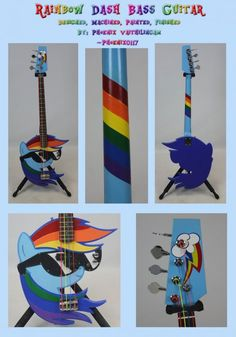 This Rainbow Dash Electric Guitar Is 20% Cooler Than Yours - Neatorama