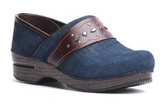 Dansko Pavan dress clogs in Blue Croc!