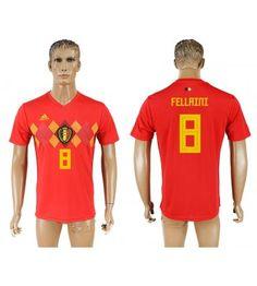 Belgien Marouane Fellaini 8 Heimtrikot WM 2018 Herren Eden Hazard, Isco, Chelsea, 21st, Polo Ralph Lauren, David, Mens Tops, Pique, World Cup 2018