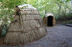 The huts of Mesolithic hunters, fishers and gatherers at the Oerlinghausen Archaeological Museum