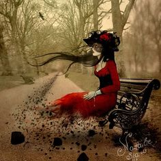 Woman in red by Natalie Shau