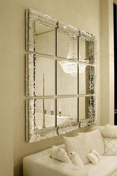 Davide Medri   'VERY BIG' is a hand crafted modular mosaic mirror system