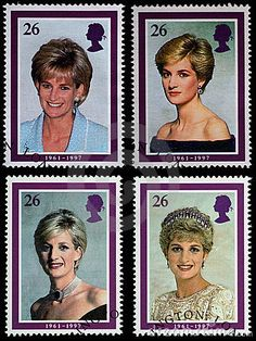 Princess Diana Postage Stamps