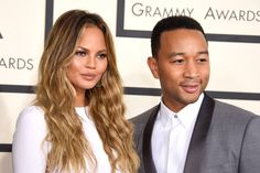 LOS ANGELES, CA - FEBRUARY 08:  Model Chrissy Teigen (L) and recording artist John Legend attend The 57th Annual GRAMMY Awards at the STAPLES Center on February 8, 2015 in Los Angeles, California.  (Photo by Jeff Vespa/WireImage) via @AOL_Lifestyle Read more: http://www.aol.com/article/2016/05/09/chrissy-teigen-is-now-getting-hate-for-looking-too-good-as-a-new/21374043/?a_dgi=aolshare_pinterest#fullscreen