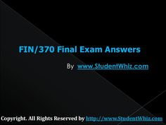 The Fin 370 Final Uop Exam Assignment gives you the best competitive edge in examinations.The complete solved FIN 370 Final Exam Question and Answers is availa… Exam Answer, Question And Answer, This Or That Questions, Secondary Market, Final Exams, Debt, Finals, Flow, Bond