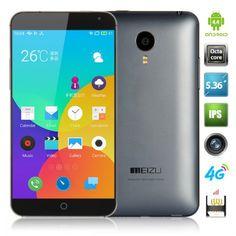 #MEIZU MX4 MTK6595 2.2GHz Octa Core 5.36 Inch Sharp JDI Corning Gorilla Glass FHD Screen 2GB 16GB Android 4.4 4G LTE 20.7MP Camera 3100Mah Smartphone  Model: Meizu MX4 Color: Gray OS: Android 4.4 CPU: MTK6595 Octa Core 2.2GHz ROM: 16GB RAM: 2GB Screen: 5.36 inch LTPS OGS,Corning Gorilla Glass capacitive touch screen 1920 x 1152pixels Camera : Front 2.0MP Rear 20.7MP Camera