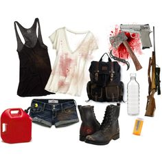 The Walking Dead, created by larkietheawesome on Polyvore