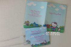 Kit viagem Hello Kitty  :: flavoli.net - Papelaria Personalizada :: Contato: (21) 98-836-0113 - Também no WhatsApp! vendas@flavoli.net 98, Hello Kitty, Travel Kits, Personalized Stationery