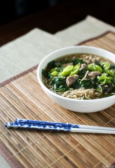 Slow cooker Japanese Pork and Ramen Soup