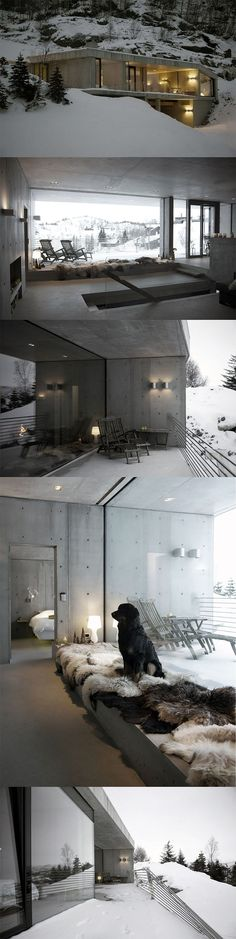 Winter cottage, Sirdalen Valley, Norway http://thecoolhunter.net/winter-cottage-sirdalen-valley-norway/