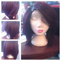 Fashion Beauty silky straight human hair u part bob wig highlight virgin hair bob short wigs for black women Frontal Hairstyles, Goddess Hairstyles, Weave Hairstyles, Long To Short Hair, Short Wigs, Long Bob, Love Hair, My Hair, Diy Wig