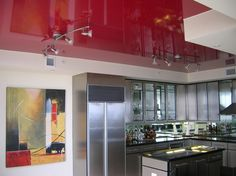 Red kitchen ceiling