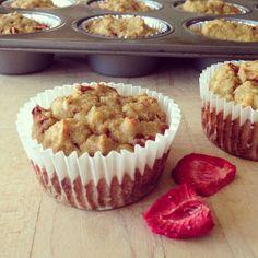 Strawberry Banana Coconut Muffins
