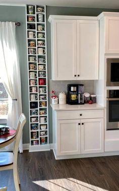 Kitchen Redo, Home Decor Kitchen, Home Kitchens, Kitchen Remodel, Kitchen Design, Kitchen Cabinets, Kitchen Ideas, Mug Storage, Coffee Mug Display