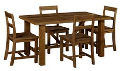 Vintage 1500 Dining Package (Table: 1500W x 900D x 785H mm; Chairs: 475W x 500D x 800H mm) RRP $1,165