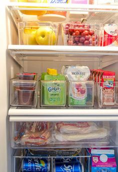 Organization Refrigerator Makeover I am so inspired by this fridge makeover - using containers in the fridge - brilliant!I am so inspired by this fridge makeover - using containers in the fridge - brilliant!