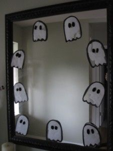 Ghost Craft for the girls bathroom mirror