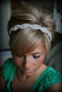 Rhinestone Headband AMARA wedding headband hair by BrassLotus, $34.95  Buying this for my wedding day :)