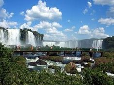 Iguazu Falls are waterfalls of the Iguazu River on the border of Brazilian state Paranáand Argentine province Misiones. The falls divide the river into the upper and lower Iguazu. Iguazu National Park, National Parks, Places To Travel, Places To See, Places Around The World, Around The Worlds, Argentina Culture, Visit Argentina, Iguazu Falls