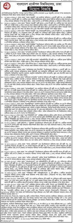Bangladesh Engineering University jobs Circular 2016 Name of the Position: Chief…