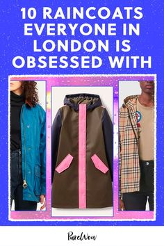No one does rainy-day style better than the Brits. That's why we consulted several locals for their picks on the best raincoats. #raincoats #London Rainy Day Fashion, Autumn Fashion, Best Rain Boots, Hunter Wellies, Wax Jackets, Waterproof Coat, Rainy Season, French Brands