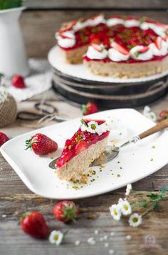 Eiskaffee-Milchreistorte mit Erdbeeren - Das Küchengeflüster