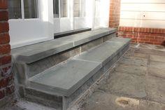 Bluestone Step Tread Caps Natural Stone Veneer, Natural Stones, Landscape Materials, Landscape Design, Bluestone Pavers, Step Treads, Sandstone Wall, Outdoor Steps, Landscape Maintenance
