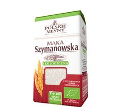 Ekologiczna mąka pszenna typ480. Mąka ekologiczna wytwarzana jest tradycyjnymi metodami z ziaren powstałych z upraw ekologicznych, co wpływa na jej walory zdrowotne i  smakowe. Mąka Szymanowska ekologiczna typ 480 powstaje w szymanowskim młynie w sposób całkowicie naturalny - co najistotniejsze, nie dodawane są do niej żadne dodatki takie jak polepszacze i wybielacze, dlatego jest bezpieczna dla środowiska oraz naszego zdrowia.